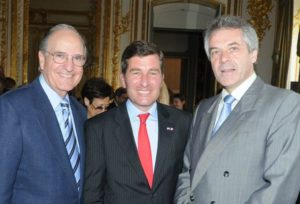Presidential special envoy George Mitchell and ambassadors Charles Rivkin and Sir Peter Westmacott